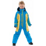 Зимний комбинезон DF Junior Blue-Yellow 2020